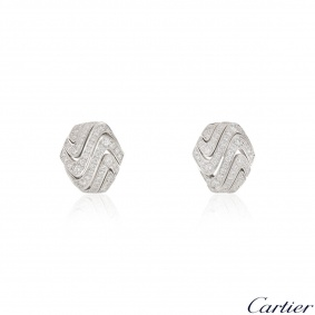 Cartier White Gold Diamond Earrings 1.74ct F+/VS+